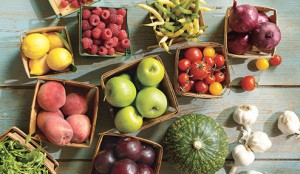 Fresh fruits and vegtables